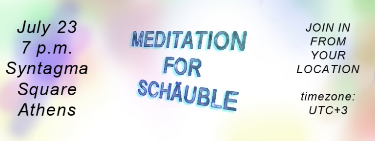 Meditation for Schäuble